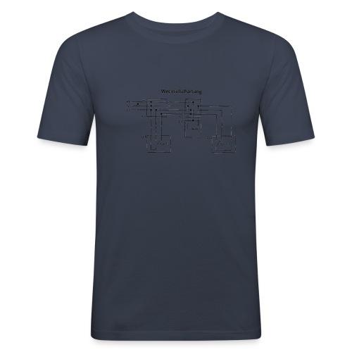 Wechselschaltung schwarz - Männer Slim Fit T-Shirt