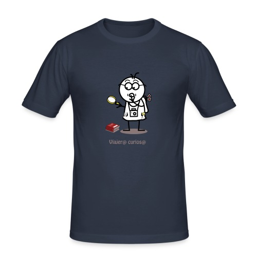 Viajero curioso - Camiseta ajustada hombre