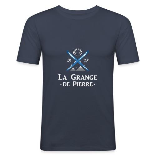 La Grange de Pierre Blue Cross Light - T-shirt près du corps Homme