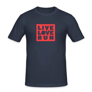 Live Love Run - Männer Slim Fit T-Shirt