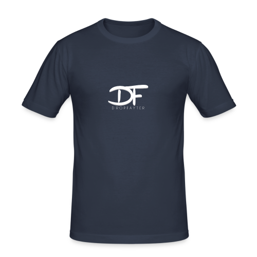 Dropfayter logo in WIT - slim fit T-shirt