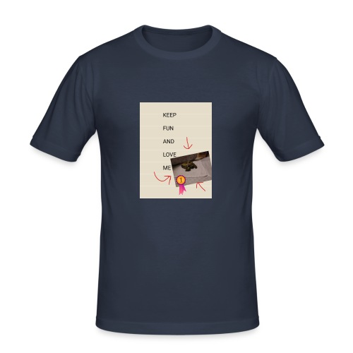 Keep fun and love me - Miesten tyköistuva t-paita