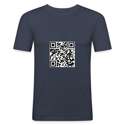 QR code - Männer Slim Fit T-Shirt