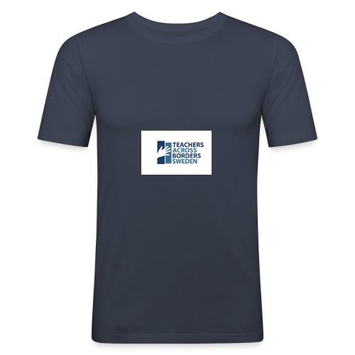 Teachers across borders logga - Slim Fit T-shirt herr