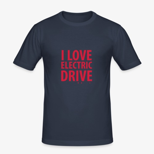 Design3 I Love electric drive - Männer Slim Fit T-Shirt