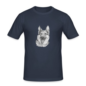 Schæfer German shepherd - Herre Slim Fit T-Shirt