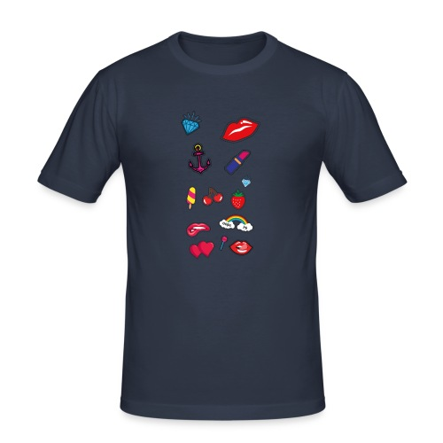 ecussons pop - T-shirt près du corps Homme