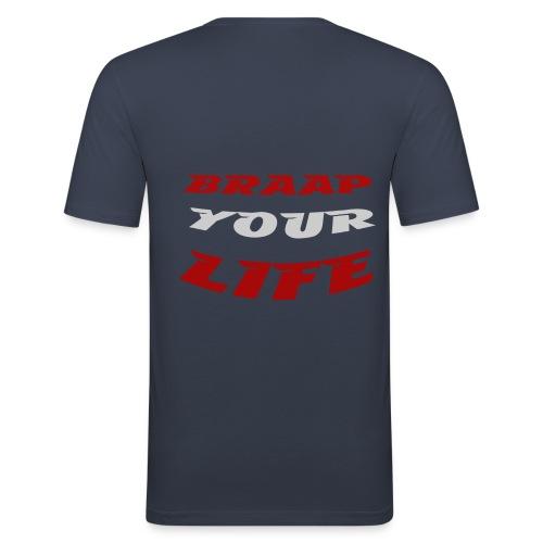 Braapyourlife Crew - Männer Slim Fit T-Shirt