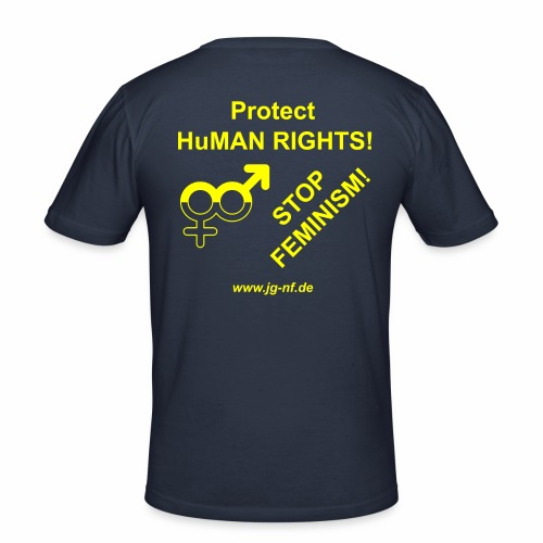 Protect Human Rights - Stop Feminism - Men's Slim Fit T-Shirt