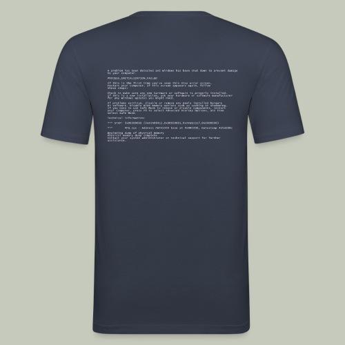 Blue Screen of Death - Männer Slim Fit T-Shirt