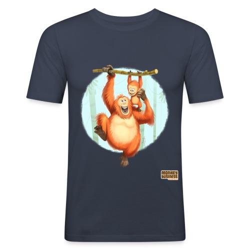 Kenneth anderson - Mannen slim fit T-shirt