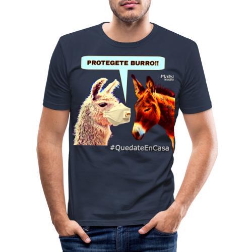 PROTEGETE BURRO - Men's Slim Fit T-Shirt