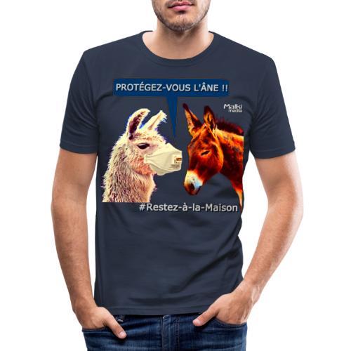 PROTEGEZ-VOUS L'ÂNE !! - Coronavirus - Men's Slim Fit T-Shirt