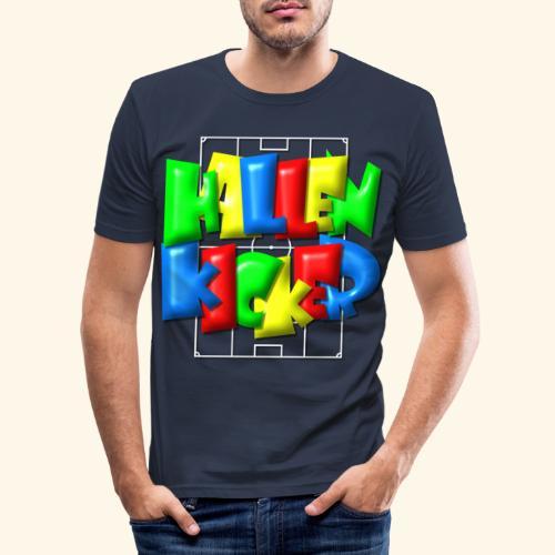 Hallenkicker im Fußballfeld - Balloon-Style - Männer Slim Fit T-Shirt