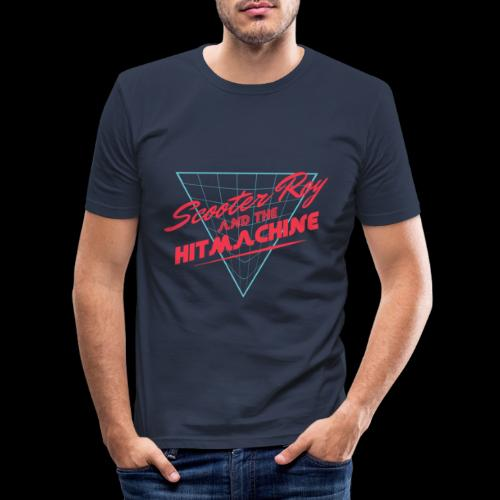 ScooterRoy and the Hitmachine - Mannen slim fit T-shirt