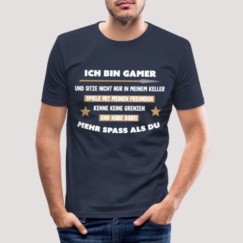Ich bin Gamer - Männer Slim Fit T-Shirt
