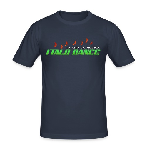 ITALODANCE Io Amo - Men's Slim Fit T-Shirt