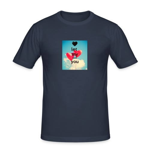 let my love you 1 - Mannen slim fit T-shirt