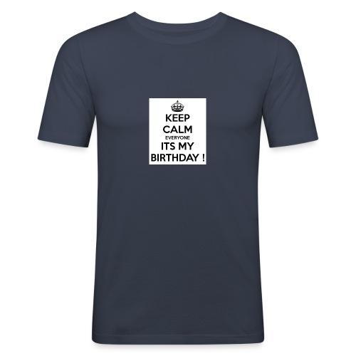 keep_calm_its_my_birthday - Men's Slim Fit T-Shirt