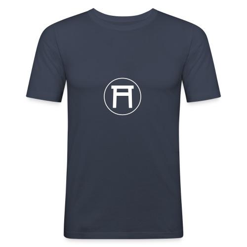 seishinkailogo mit ring vektor weiss - Männer Slim Fit T-Shirt