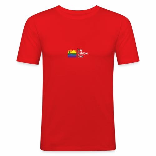 GOC Logo White Text - Men's Slim Fit T-Shirt