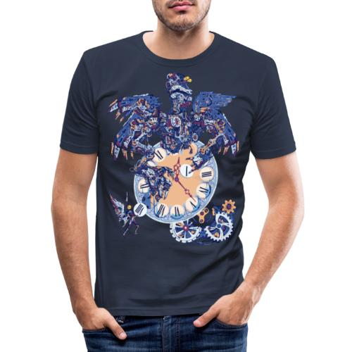 Steampunk Clock Machine - T-shirt près du corps Homme