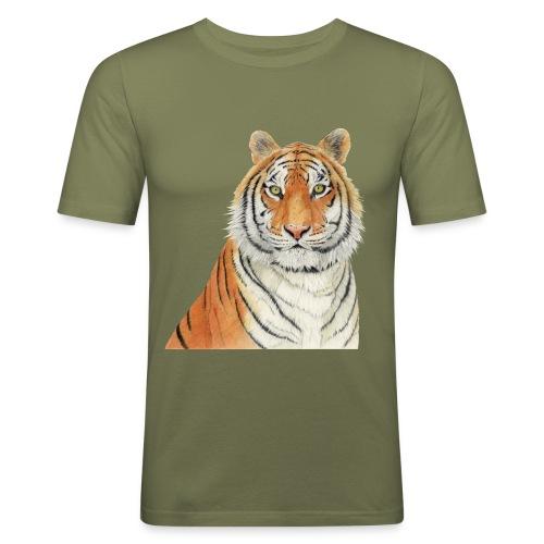 Tigre,Tiger,Wildlife,Natura,Felino - Maglietta aderente da uomo