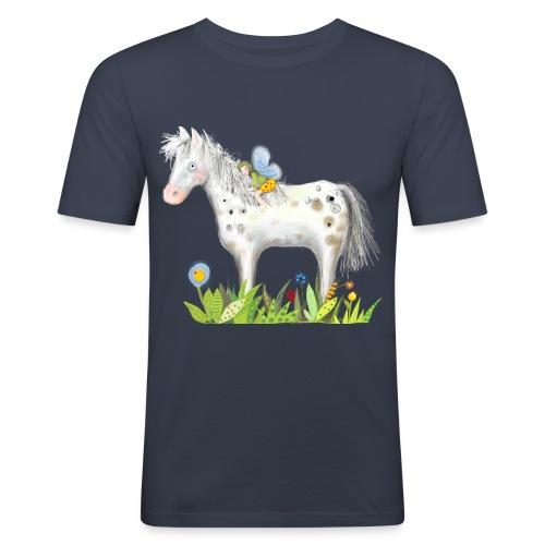 Fee. Das Pferd und die kleine Reiterin. - Männer Slim Fit T-Shirt