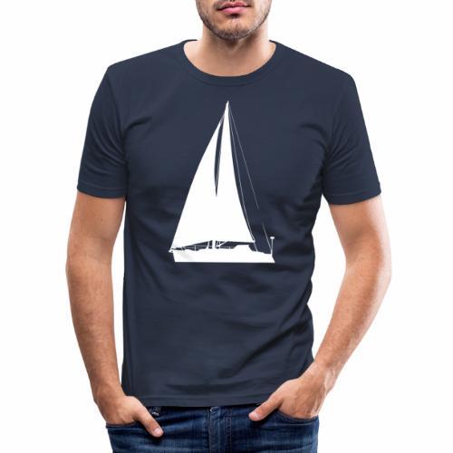 voilier blanc - T-shirt près du corps Homme