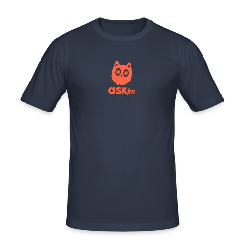 Normale mannen T-Shirt met Askfm logo. - Mannen slim fit T-shirt