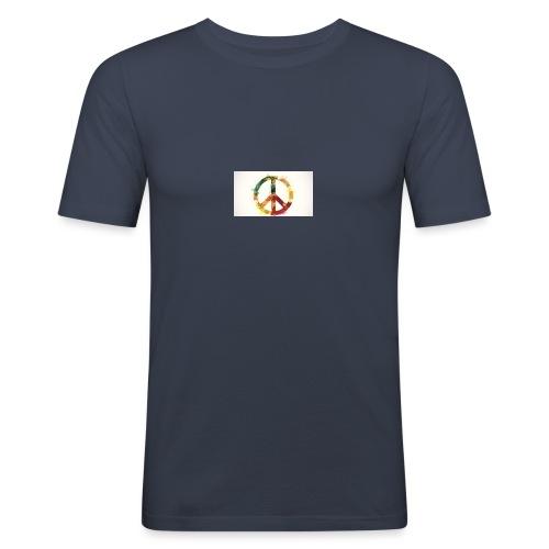 peace mok - Mannen slim fit T-shirt