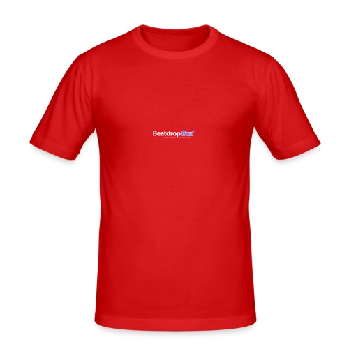 beatdropbox logo final and hires - Mannen slim fit T-shirt