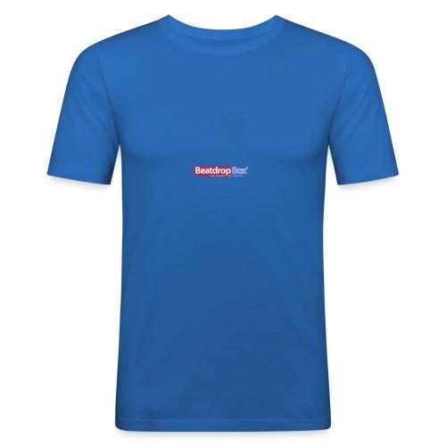 beatdropbox logo final and hires - Mannen slim fit T-shirt