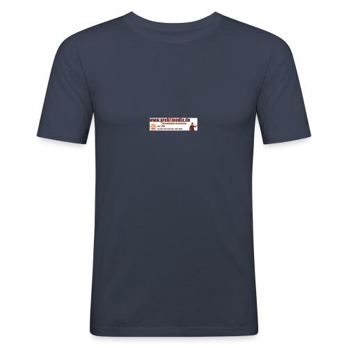 Anzeigegrebxmedia485schmalneu - Männer Slim Fit T-Shirt
