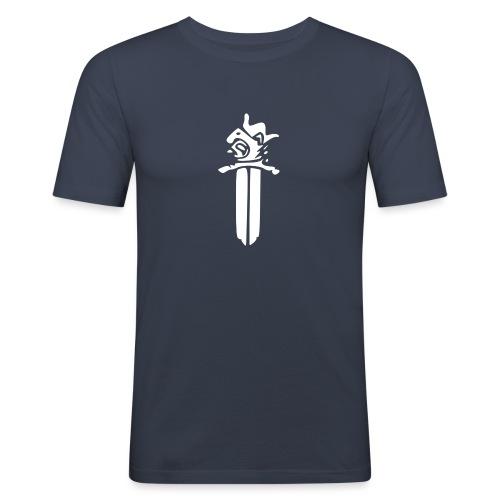 Sotilaspoliisi - valkoinen - Miesten tyköistuva t-paita