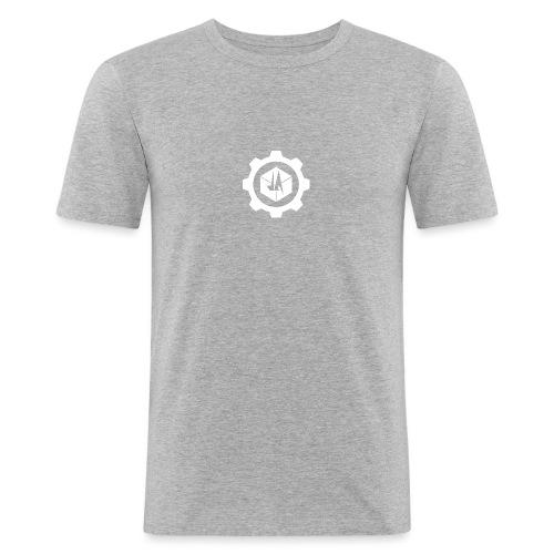 Jebus Adventures Cog White - Men's Slim Fit T-Shirt