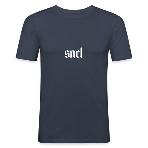 SNCL Retro Weiß - Männer Slim Fit T-Shirt