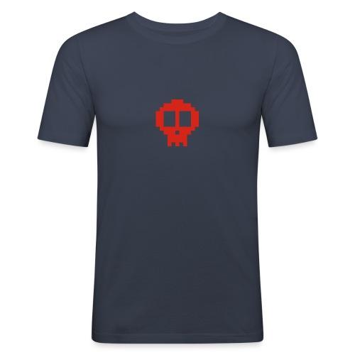 Pixel skull - red - Men's Slim Fit T-Shirt