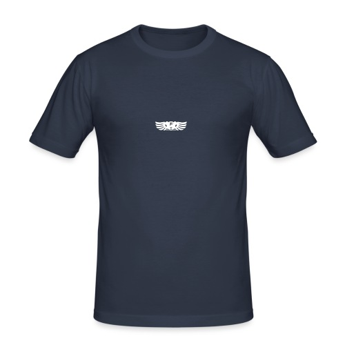 LOGO wit goed png - Mannen slim fit T-shirt