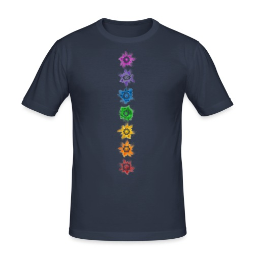 Chakra - Shirt - Männer Slim Fit T-Shirt