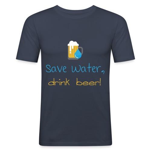Save water, drink beer! - Men's Slim Fit T-Shirt