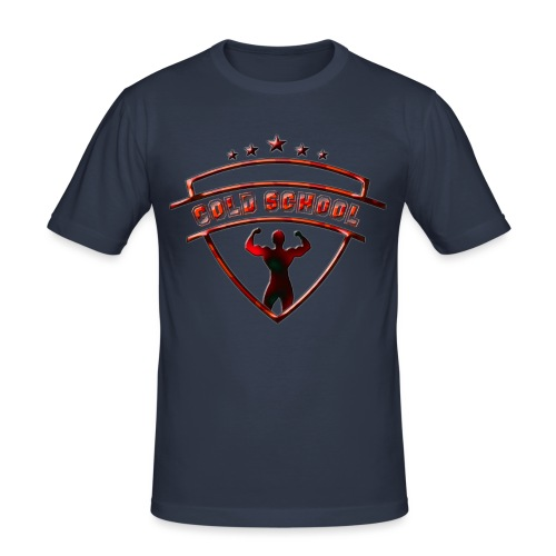 double biceps rouge motif - T-shirt près du corps Homme