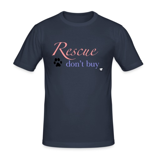 Rescue don't buy - Men's Slim Fit T-Shirt