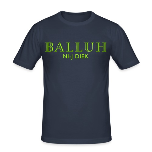 BALLUH NI-J DIEK - navy/neon - Mannen slim fit T-shirt