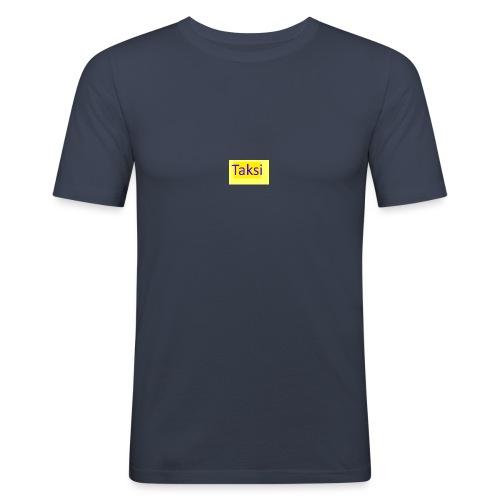 Taksi - Miesten tyköistuva t-paita