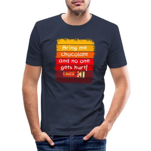 Bring me chocolate - Mannen slim fit T-shirt