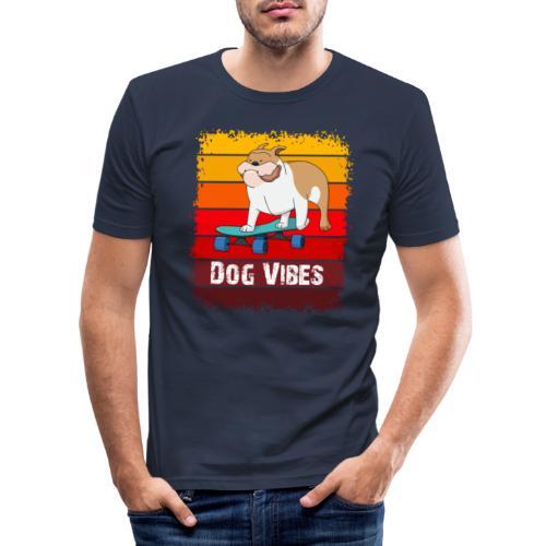 Dog vibes - Mannen slim fit T-shirt