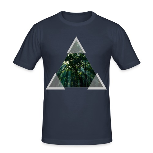 Triangle Forest window - Men's Slim Fit T-Shirt