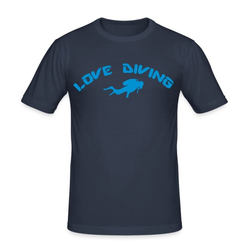 love diving - Männer Slim Fit T-Shirt