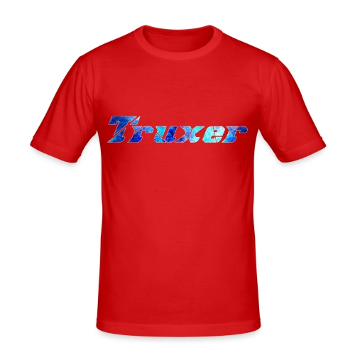 Truxer Name with Sick Blue - Men's Slim Fit T-Shirt